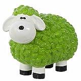 Lustiges Schaf grün Polyresin, 32x44x25cm
