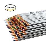 ZJchao Lot de 72/48Couleur crayon Couleur Dessin Marco fine art Huile Base non toxique Ensemble de crayons pour artiste Sketch, Bois dense, coloris assortis, 72 Color