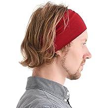 Miglior prezzo codici promozionali elegante e grazioso fascia capelli uomo - Rosso - Amazon.it