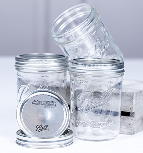 16 Jar Mason Oz (Ball Mason Jar 16oz Wide Mouth 3er/Set)