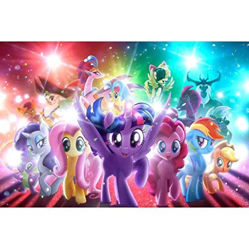 Unbekannt WYF Erwachsene Puzzles, Cartoon My Little Pony Poster, Kinder frühen Lernspielzeug 300.500.1000 Stück, Kinder Holzpuzzle P629 (Color : C, Size : 1500pc) (Little Pony-crystal-games My)