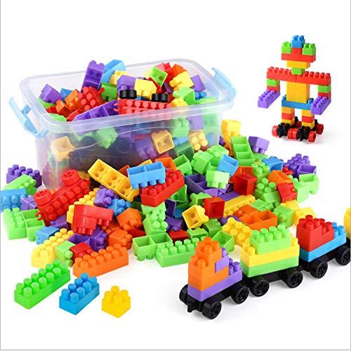 teine   aufbewahrungsbox kinder frühe bildung puzzle montage spielzeug grün kunststoff junge junge spielzeug 100 tabletten + lokomotive ()
