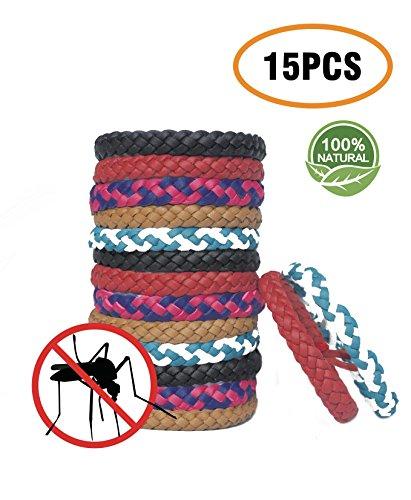 Idoline Mückenschutz Armband Mosqito Mückenarmband Insektenschutz Naturals Schutz gegen Mücken Outdoor Indoor Mosquito