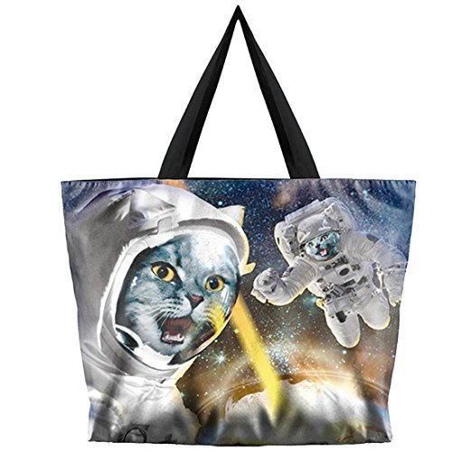 Belsen, Borsa a spalla donna multicolore Devil Taglia unica astronaut Cat