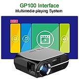 Projecteur de cinéma maison de projecteur de NewPal GP100 3500lumens LED pour des jeux, visionnant la vidéo with HDMI, AV, USB, VGA.