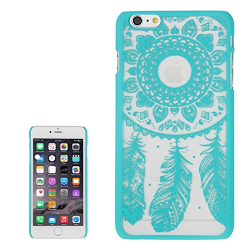 Phone case & Hülle Für iPhone 6 Plus / 6s plus, Glas Fenster Gitter Stil Windbell Muster Kunststoff Abdeckung ( Color : Green ) Green