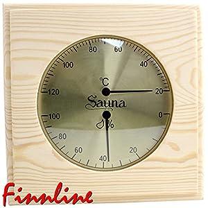 """Weigand Sauna Thermometer Hygrometer """"PUU"""" I Nachjustierbare Kombination I Klimamesser in schönem Holzrahmen I Saunazubehör"""