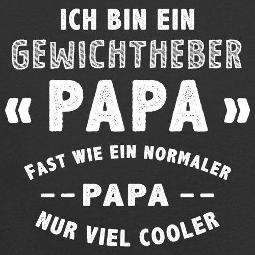 Ich bin ein Gewichtheber Papa - Herren T-Shirt - 13 Farben Schwarz