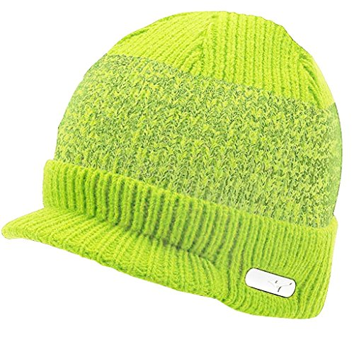 Mizuno 2016 M15 Peaked Golf Beanie Thermal Winter Warm Knitted Mens Golf Hat Lime Punch