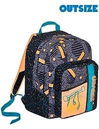 bf3154db99 Zaino scuola Outsize SEVEN - SWAG BOY - Arancione Nero - 33 LT - inserti  rifrangenti