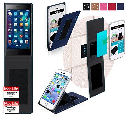 reboon Hülle für BlackBerry Leap Tasche Cover Case Bumper | Blau | Testsieger