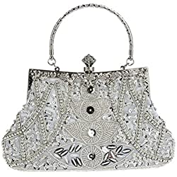 Bolso de Mano con brillos en tono plateado - varios modelos a elegir