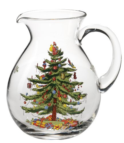 Spode Christmas Tree Glass Pitcher by Spode Spode Christmas Tree Glass