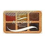 Artgraf Watersoluable Graphite Squares 6/Pkg-Earth Tone