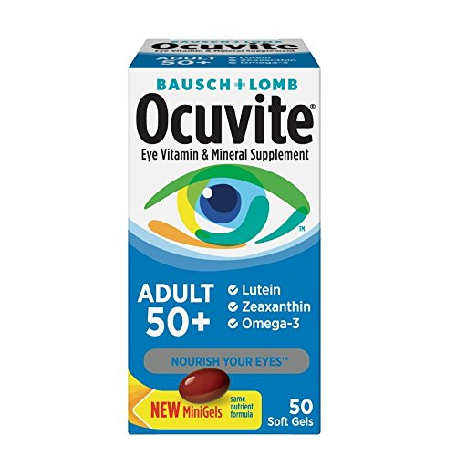 Ocuvite Lutein (Bausch & Lomb Ocuvite Eye Vitamin & Mineral Supplement For Adults 50+, 50-Count Soft Gels (Pack Of 2) by Ocuvite)