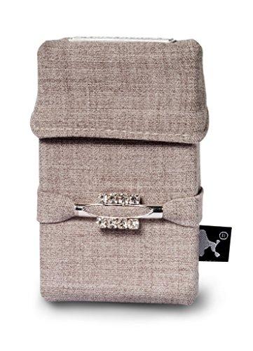 Abbildung: Smokeshirt VIP modische Hülle für Zigarettenschachteln, mit Swarovski Kristallen und Geschenkbox, Überzug, Etui, Zigarettenhülle für Zigarettenpackungen, Zigarettenetui, Le Miracle
