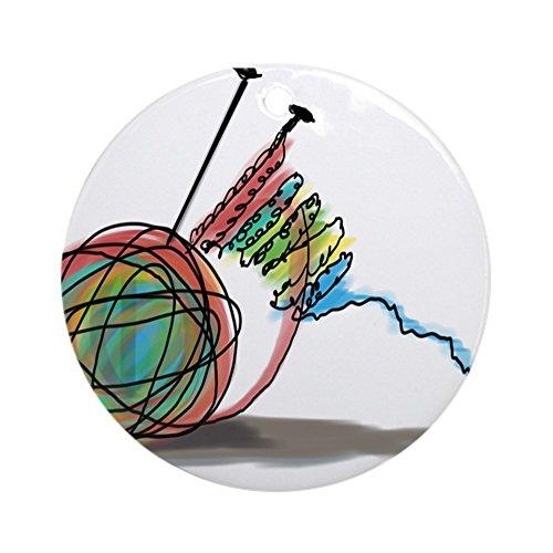 CafePress Schmuck-Time to Knit (rund)-Rund Urlaub Weihnachten Ornament (Angora Garn Kaninchen)