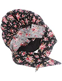 1c81823541e Healifty Chemo Headwear Turbans Cotton Head Scarf Night Head Cover Bonnet  with Flower Pattern for Women