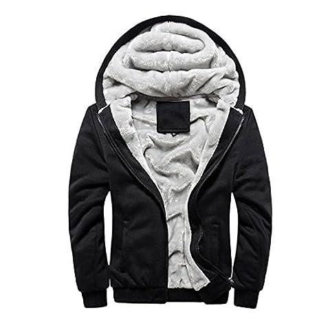 Zhuhaitf Fashion Cool Mens Long Sleeve Hoodies Warm Zipper Jackets Sport Coats Sweatshirts