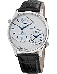 August Steiner Hombre Acero Inoxidable Dual Time reloj