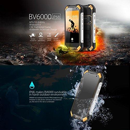 Blackview Bv6000  desbloqueado Smartphone 4  G Red 3  GB   32GB IP68  resistente al agua a prueba de polvo a prueba de golpes color moldeado por inyec