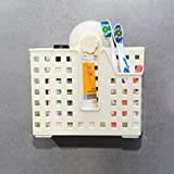 #7: Kurtzy® Suction cup organizer Toothbrush Holder storage shelf/Rack for Bathrooms Toiletries (L-20, B-12, H-20)