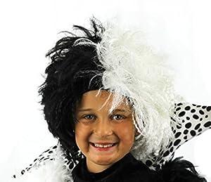 I Love Fancy Dress ilfd2155Niñas mitad negro medio blanco
