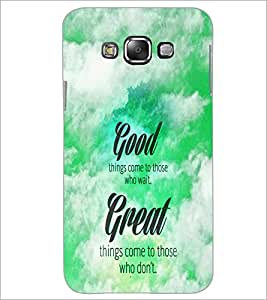 PrintDhaba Quote D-5983 Back Case Cover for SAMSUNG GALAXY E7 (Multi-Coloured)