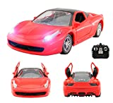 Ferrari LaFerrari Style RC Remote Radio Controlled Toy Car with Opening Doors via Remote and Lights - PL9140 1:18 Model Electric Radio Controlled Ferrari Style RC Car 27Mhz – RTR, EP (Red)