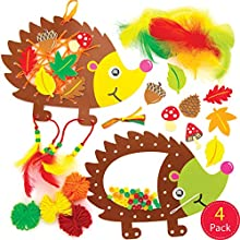 Baker Ross AW936 Hedgehog Dreamcatcher Kits, Arts and Crafts for Kids (Pack of 4), Assorted