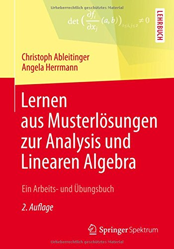 Lernen aus Musterlösungen zur Analysis und Linearen Algebra: Ein Arbeits- und Übungsbuch