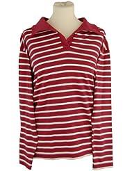 T-Shirt, Kragen, langarm