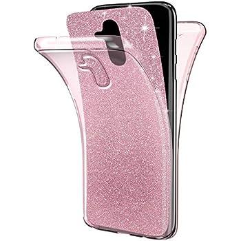 Felfy Kompatibel mit Huawei Mate 10 Lite Grad Handyh/ülle Silikon Schwarz H/ülle Vorne und Hinten Full Body Doppel-Schutz 2 in 1 Ultra D/ünn Weich TPU Bumper Case Schutzh/ülle Full Cover