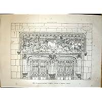 Architettura 1869 di D'Amboise Francia del Castello della Cappella della Entrata dell'Entrata - Castello Di Amboise