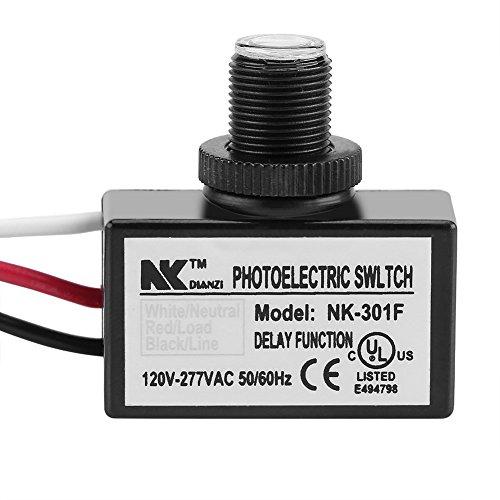 NK-301F Lichtsensor Steuerschalter Lichtschalter Controller zu Fernbedienung LED Leuchte auf aus AC 120 V-277 V für Haushaltsgeräte Lampen Beleuchtung und Elektrische Ausrüstung