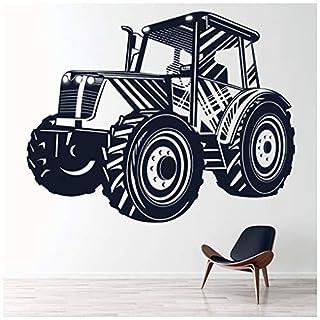 azutura Traktor Wandtattoo Bauernhof Fahrzeug Wand Sticker Jungen Schlafzimmer Kinder Wohnkultur verfügbar in 5 Größen und 25 Farben X-Groß Basalt Grau