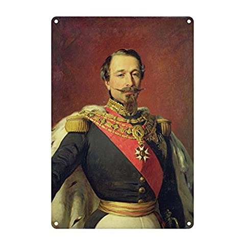 Portrait of Emperor Louis Napoleon III,.. - Premium Metal Sign 20x30cm gloss finish advertising signs - Art247