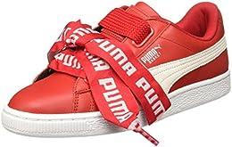 puma basket heart rosse
