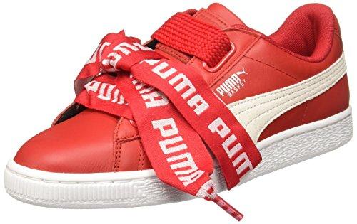 puma basket rojas mujer