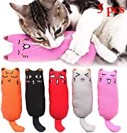 Mumoo Bear 5Pcs Catnip Toy, Cat Chew Toy Bite Resistant Catnip Toys for Cats
