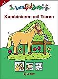 Kombinieren mit Tieren (LernSpielZwerge - Mal- und Rätselblocks)