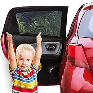 sonnenschutz auto baby 2 st ck sonnenblende auto mit uv schutz f r kinder hund im r cksitz. Black Bedroom Furniture Sets. Home Design Ideas