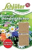 Schlüter´s Düngestäbchen für Blühpflanzen, Grünpflanzen, Balkonpflanzen und Zimmerpflanzen - 3 Monate Langzeit Depotdünger für Zierpflanzen - 20 Stück NPK-Dünger mit Magnesium und Guano