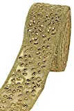 #7: Golden Heavy Diamond Work Embroidery Lace