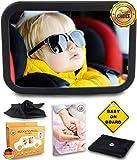 Rücksitzspiegel Autospiegel Baby 6 Teile XXL Set mit Ebook I Universeller Sicherheitsspiegel Babyspiegel für Kinder in Kindersitz I Das beste Rückspiegel Baby Spiegel Auto Set für...