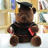 1pc 18 / 23cm Carino Dr. Orso Peluche Peluche Kawaii Teddy Bear Bambole Animali Regali di Laurea per Bambini Bambini Ragazze Nero 23 cm