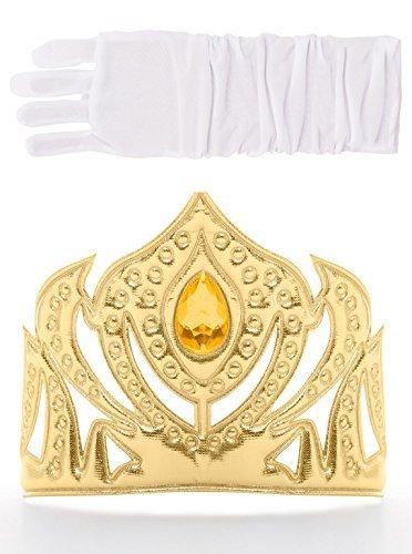 (Little Adventures skandinavischen Prinzessin Goldene Krone & Weißer Handschuh Set für Mädchen - Einheitsgröße (3+ Jahre))