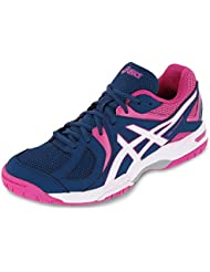 Asics Gel Hunter zapatillas de interior para mujer azul y blanco & Azalea Rosa – UK 8