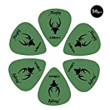 Mugig Plettri per Chitarra,Guitar Picks,Scatola di 50 Plettri per chitarra elettrica, acustica, basso (50 x 0.88mm)