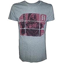 Destiny: Grey Melange Red Print (T-Shirt Unisex Tg. M)
